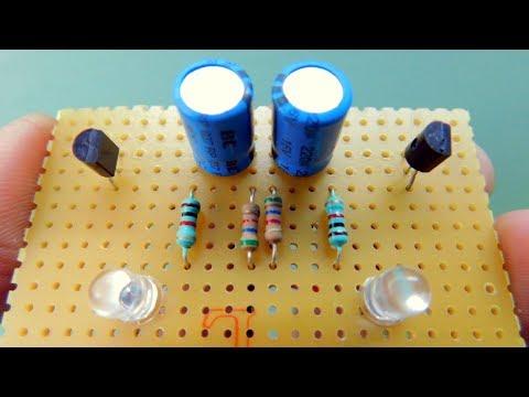 How to make LED Blinker/Flasher Oscillator circuit (ASTABLE MULTIVIBRATOR)