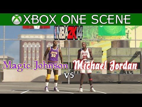 Michael Jordan vs Magic Johnson - NBA 2K14 Blacktop - XBOX ONE