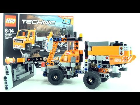 LEGO Road Work Crew 42060 - LEGO Technic Gritter with Snow Plough - Lego Speed Build