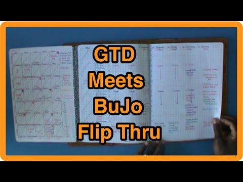 GTD Meets Bullet Journaling - Flip Through