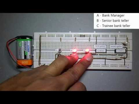 NOR and NAND gate implementation
