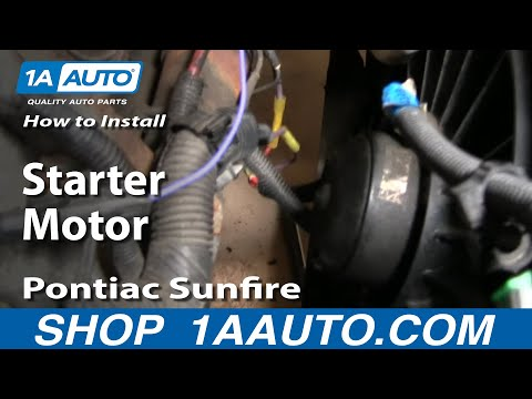 How To Install Replace Change Starter Motor Chevy Cavalier Pontiac Sunfire 95-05 1AAuto.com