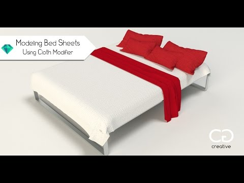 Create Bed Sheets Using Cloth Modifier - 3Ds Max