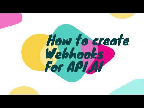 How to create Webhooks for Dialogflow (Api.ai)