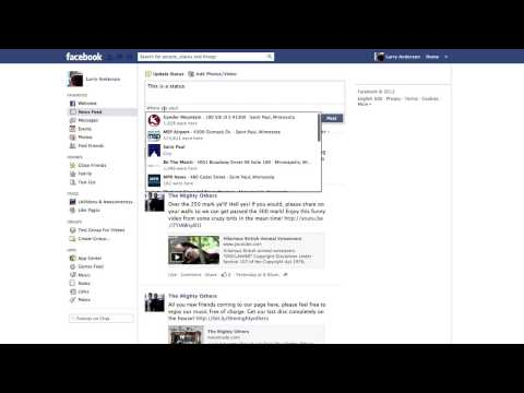 How to Set Location on Facebook Status