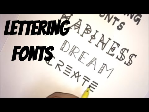 Doodle with me - Lettering fonts/styles | PART - 1