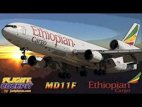 Cockpit MD11 with ETHIOPIAN to Africa, Asia & Europe!