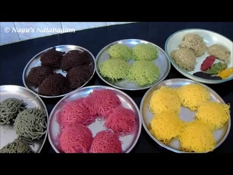Idiyappam Recipes-Nool Puttu Recipe-Carrot Idiyappam Recipe-Ragi,Bajra&Wheat Idiyappam Reicpe
