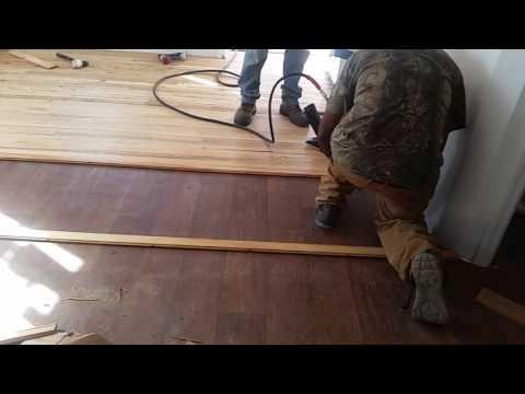 Reclaimed Hardwood Floor Installation