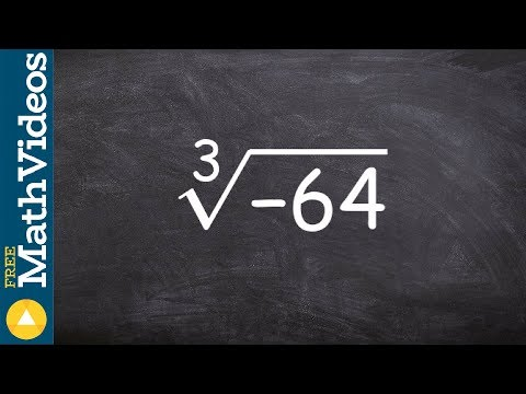 Tutorial - How to take the cube root of negative 64 using prime factorization, cuberoot(-64)