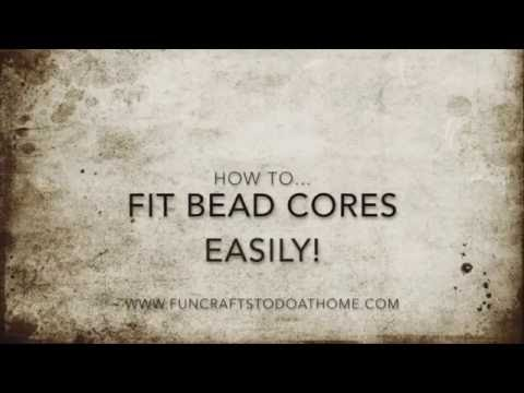 How To Fit European Style Paper Bead Cores Easily