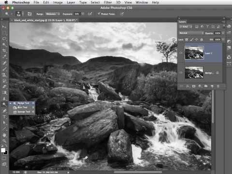 Photoshop CS6 CC Convert to Black and White / Mono