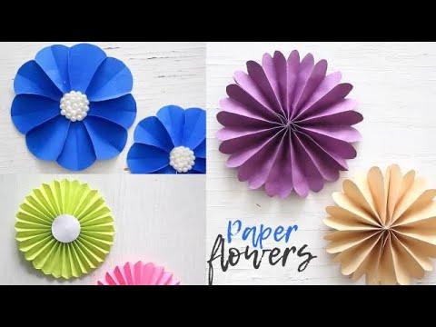 Simple Paper Flowers | Paper Craft | Easy Tutorial | Handmade Crafts | Ventuno Art