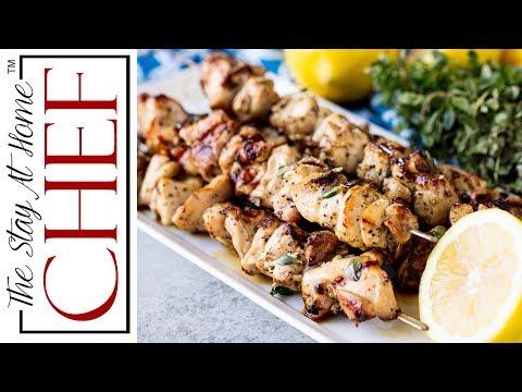 Grilled Lemon Herb Chicken Thigh Skewers
