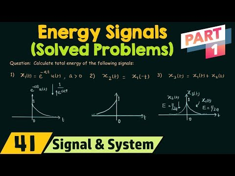 Energy of CT Signals (Solved Problems) | Part 1
