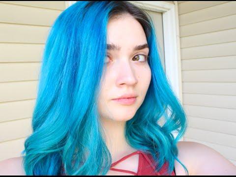 Teal Blue Hair Tutorial