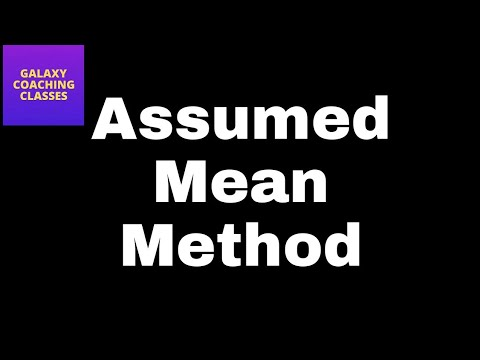 Assumed mean method ll finding mean ll grouped data ll cbse class 10 statistics