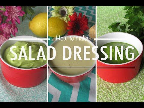 How to make: Salad dressing - 3 recipes #lowcarb