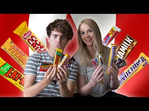 AUSTRALIANS TRYING CANADIAN CANDY [Vancouver, Canada]