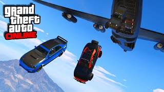 Furious 7 Plane Drop Scene! || GTA 5 Online || PC