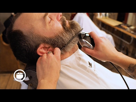 Beard Fade With Big Goatee to Tight Sideburns | Cut and Grind
