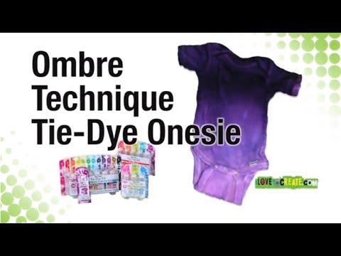 How to tie dye ombre onesie