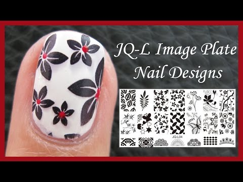 JQ-L FLOWER IMAGE PLATE STAMPING NAIL ART DESIGN TUTORIAL FOR SHORT NAILS FOR BEGINNERS EASY SIMPLE
