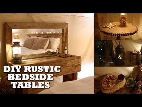 DIY Rustic Bedroom Tables