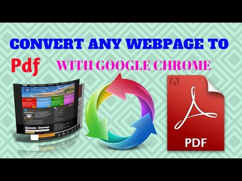 How to Convert Webpage to Pdf  with Google Chrome & All Browsers In Hindi/Urdu (Web Page to PDF)