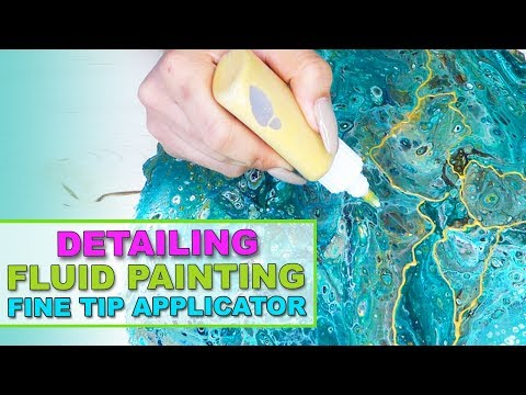 Fluid Acrylic Painting DETAILING WITH FINE TIP APPLICATOR