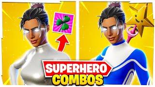 5 NEW SWEATY SUPERHERO SKIN COMBOS IN FORTNITE!