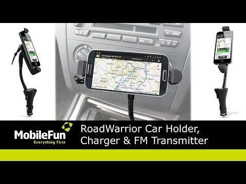 RoadWarrior Car Holder, Charger & FM Transmitter