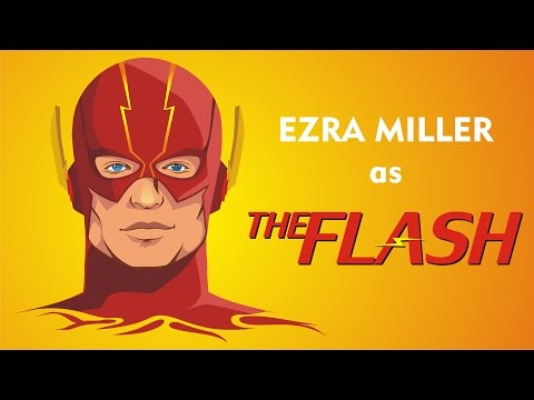Vectoring Ezra Miller as a New The Flash in Coreldraw - Timelapse