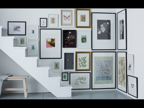 IKEA Ideas: How to hang pictures in awkward spaces