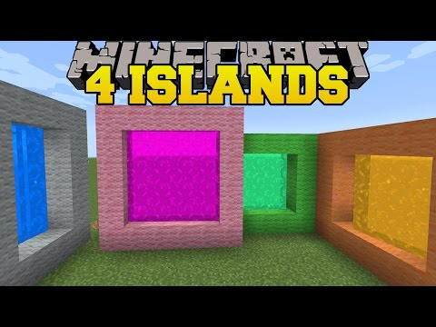 Minecraft: 4 ISLANDS! - THE 8 ISLANDS - Custom Map