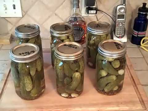 Homemade Dill Pickles.