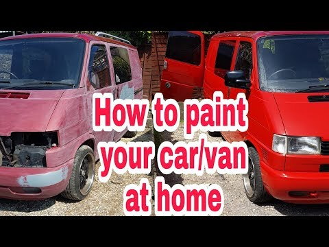 Hand painting your car or van, step by step ( part 1 )