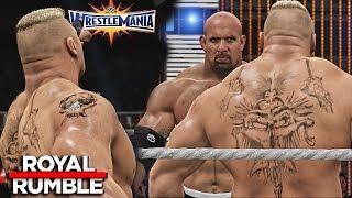WWE 2K17 Royal Rumble 2017 - Brock Lesnar Wins 30 Man Royal Rumble Match!