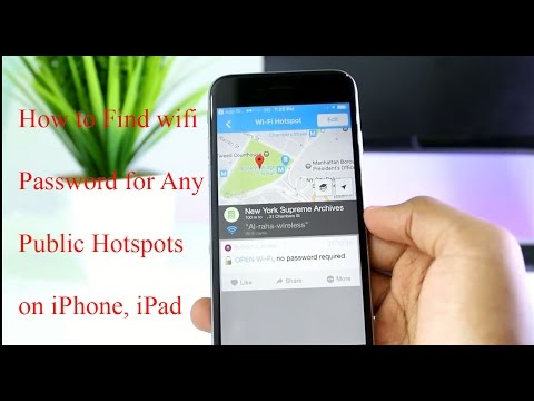 How To Find Wi Fi Password for Any Public Hotspots On iOS  (iPhone, iPad) Without Jailbreak