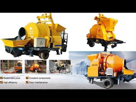 Mobile concrete mixer with pump machine price for sale in india