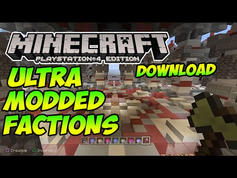 Minecraft PS4/PS3: ULTRA Modded Factions Server W/Download (Modded By Affluenza And ShoSwift)