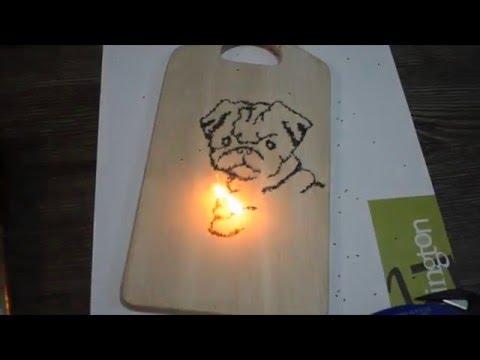 Wood Buring with Gun Powder
