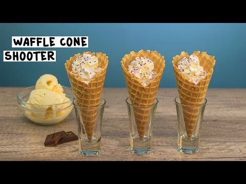 Waffle Cone Shooters - Tipsy Bartender