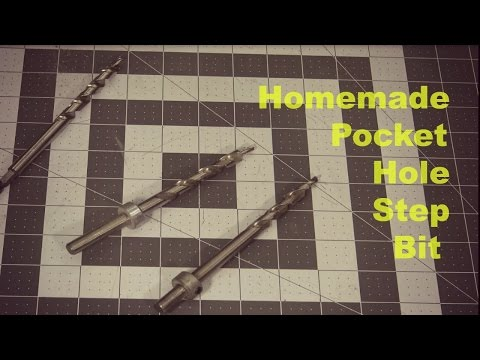 How to make a stepped drill bit for making pocket holes.