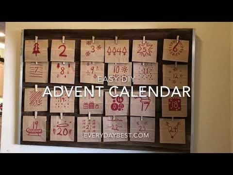 Rustic DIY Advent Calendar Idea