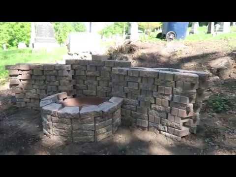 Fire pit build.