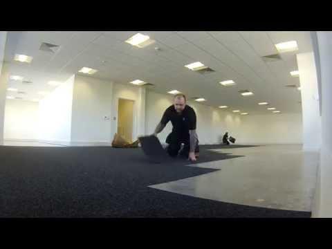 MMM Flooring Laying Carpet tiles
