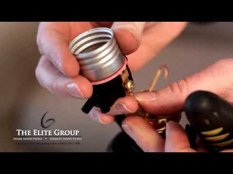 How To Rewire A Lamp | The Elite Group Property Inspections