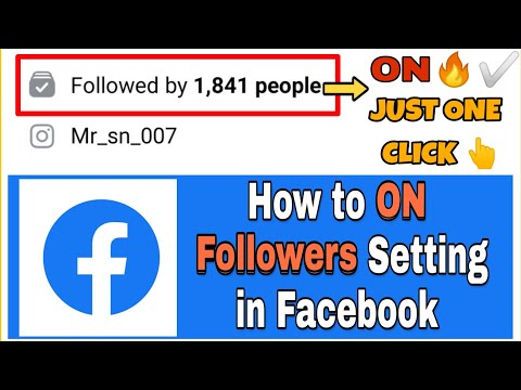How To turn on followers on Facebook 2018