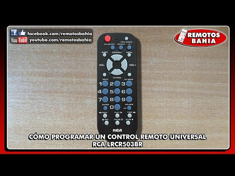CÓMO PROGRAMAR CONFIGURAR UN CONTROL REMOTO UNIVERSAL RCA LRCR503BR RCR503B RCU503B LRCR504BB